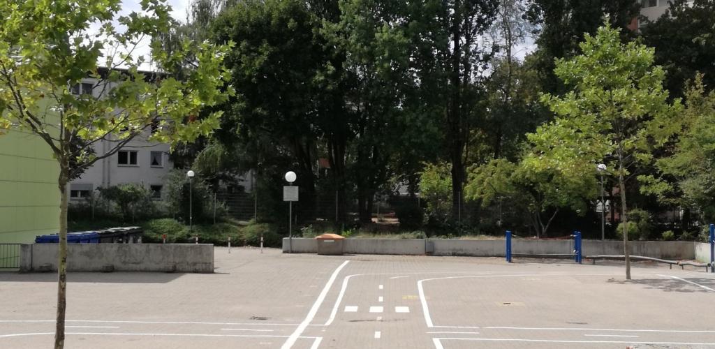 Der Parcours (Blick von der OGS)