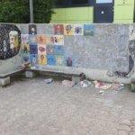 die zerstörte Wand
