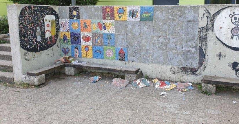 zerstörte Wand